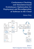 Conformance Checking and Simulation-based Evolutionary Optimization for Deployment and Reconfiguration of Software in the Cloud