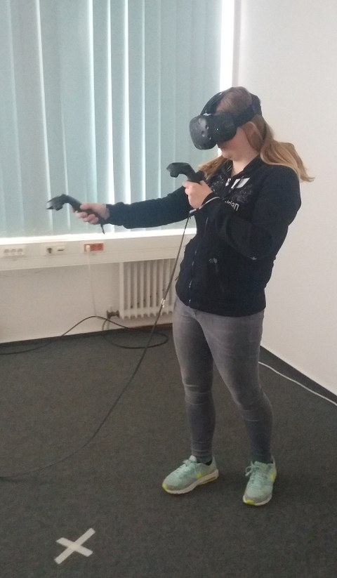 Interaktion mit der HTC Vive